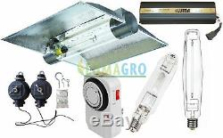 LUMAGRO 1000W Watt Digital Dimmable Ballast MH HPS Bulb Cool Tube Reflector